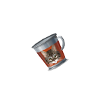 Handheld Kitty Tin Cup