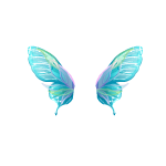 Aquamarine Angel Wings