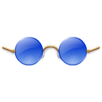 Blue Celebrity Glasses