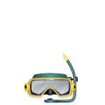 Turquoise Scuba Diving Mask