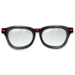 Stylish Glasses with Red Decor