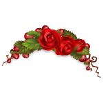Romantic Headband with Roses