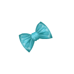 Banner Exclusive Teal Bow Barrette Left