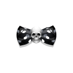 Dotted Bow with Skull