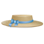 Hat with Blue Trim