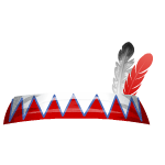 Native Indian Girl Two Feather Headband