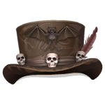 Top Hat with Skulls