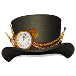 Steampunk Hat with Clock