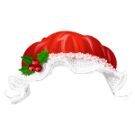 Red Christmas Bonnet