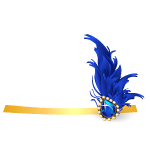 Blue Showgirl Head Piece