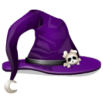 Cute Purple Witch Hat
