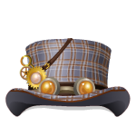 Animated Steampunk Tartan Top Hat