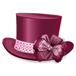 Burgundy Moulin Rouge Tophat