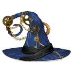 Blue Steampunk Witch Hat