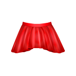Banner Exclusive Red Asymmetrical Skirt