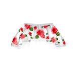 Banner Exclusive Asymetrical Skirt with Poppies