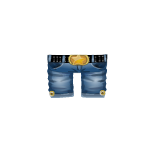 Denim Cowboy Pants with Buckle