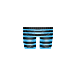 Striped Blue and Black Pants