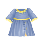 Blue Dress with Yellow Trim