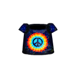 Tie-Dye Hippie Sign T-shirt