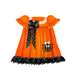 Orange Spider Dress