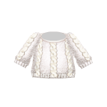 White Knitted Braid Sweater