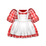 Red Checkered Pioneer Dress