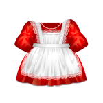 Red Christmas Dress with Apron