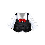 Classic White Shirt with Black Vest