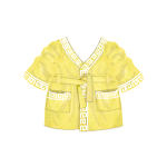 Lemon Greek Style Bathrobe