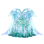 Blue and Teal Elven Gown