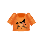 Kitty on Orange Shirt