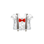 Stylish Shirt with Suspenders and Bow Tie