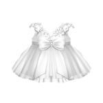 Elegant White Silk Dress with Bow