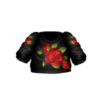 Black Blouse with Roses
