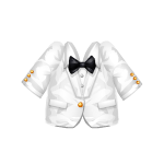 White Tuxedo with Bow Tie