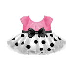 Banner Exclusive Pink Blouse with Polkadot Skirt