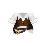 White Steampunk Shirt with Leather West