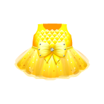 Banner Exclusive Yellow Chiffon Dress with Bow