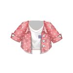 Banner Exclusive Top with Pink Unbuttoned Shirt
