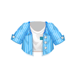 Banner Exclusive Top with Blue Unbuttoned Shirt
