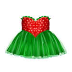 Red and Green Evening Dress