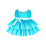 Banner Exclusive Changeable Dress with Bow and Crystals Decor