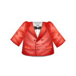 Red Jacket with Bow Ensemble