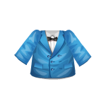 Blue Jacket with Bow Ensemble