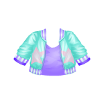 Mint and Purple Kawaii Jacket