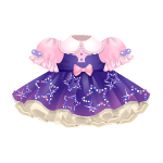 Purple Kawaii Dress with Stars