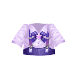 Purple Kawaii Top with Suspenders