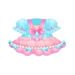 Blue and Pink Kawaii Dress