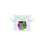 White Neon Tiger T-Shirt